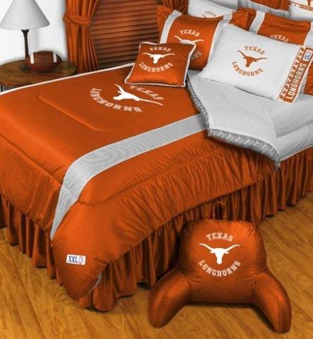 The University Of Texas Longhorns NCAA Bedding - Sidelines Complete Set - Twin w/ 1 Sham (Texas Sidelines Comforter)