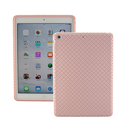 Generation Silicone Skin - ScintiSpot iPad Air Back Cover Case, Silicone Rubber Protective Skin Soft Gel Bumper for iPad Air 1st Generation (iPad 5), Kids Friendly Drop-proof Shockproof (Pink)