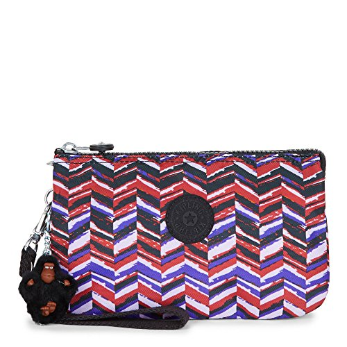 Kipling Women's Creativity Extra Large Printed Pouch One Size Dashing Stripes by Kipling