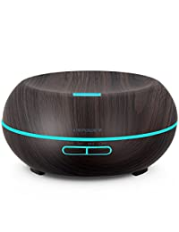 URPOWER Essential Oil Diffuser, 200ml Wood Grain Aromatherapy Diffuser Ultrasonic Cool Mist Aroma Humidifier with Adjustable Mist Mode, Waterless Auto Shut-Off, 7 Color LED Lights & 4 Timer Settings BOBEBE Online Baby Store From New York to Miami and Los Angeles
