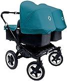 Bugaboo Donkey Complete Twin Stroller - Petrol Blue - Black Black