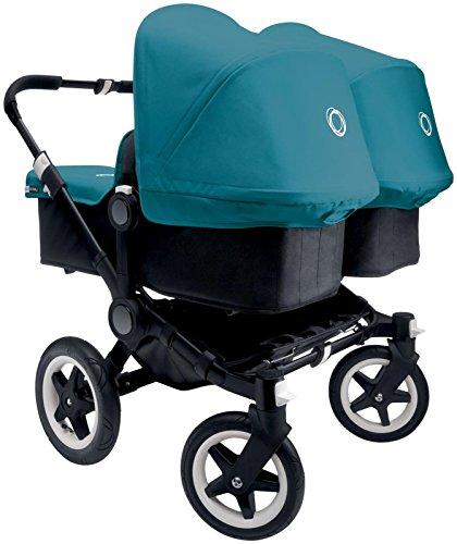 Bugaboo Donkey Complete Twin Stroller - Petrol Blue - Black/Black
