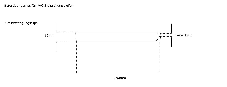 Jarolift Befestigungsclips Fur Sichtschutzstreifen Pvc Transparent