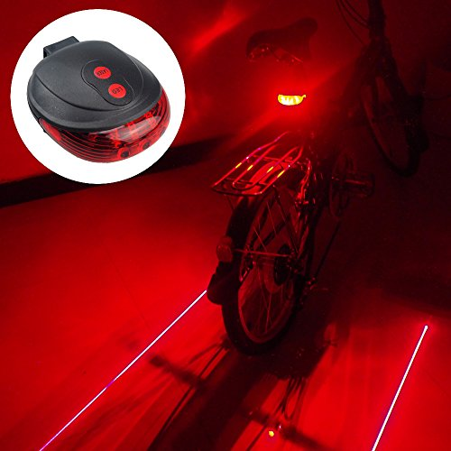 Water Resistant Bicycle Bike Rear Tail Safety Flashing Light 5 LED - 9