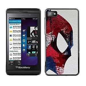 rígido protector delgado Shell Prima Delgada Casa Carcasa Funda Case Bandera Cover Armor para Blackberry Z10 /Fighter Ufo Superhero Colorful/ STRONG