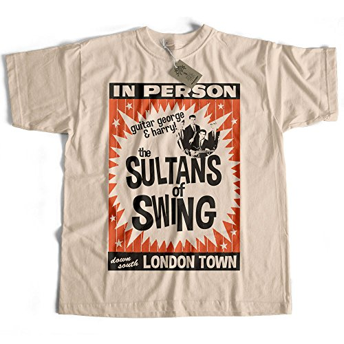 Old Skool Hooligans Inspired by Dire Straits T Shirt - suntans of Swing Poster (Medium) Natural