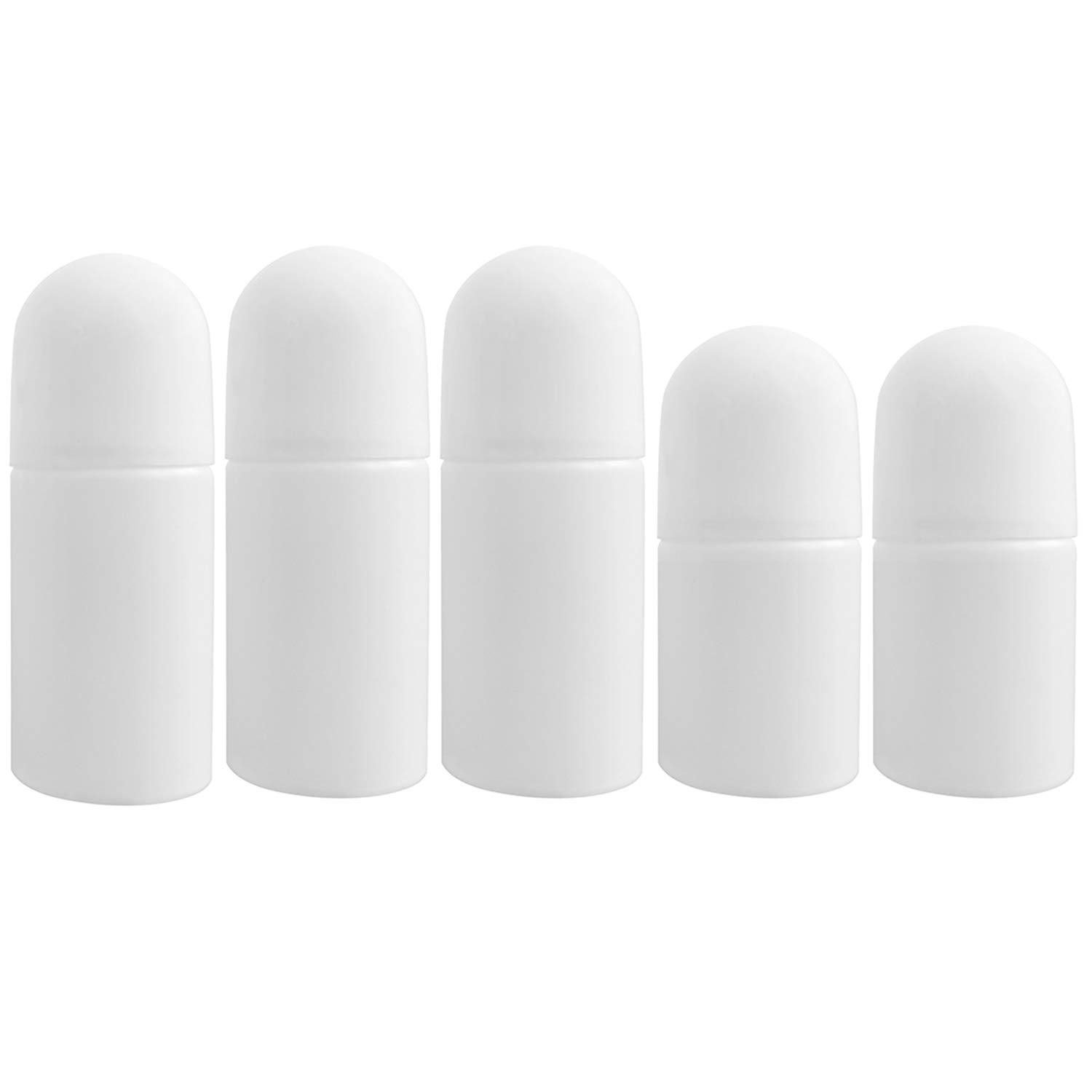 Empty Roll On Bottles for Deodorant - 5 Refillable Containers - Large & Travel Sized |