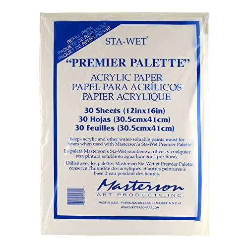 MASTERSON ART PRODUCTS MAS105.1 Palette Seal Acrylic Film Refill for 100 ()
