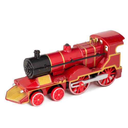 Red Cast Metal Classic Train Toy with Sounds and (Diecast Locomotive)
