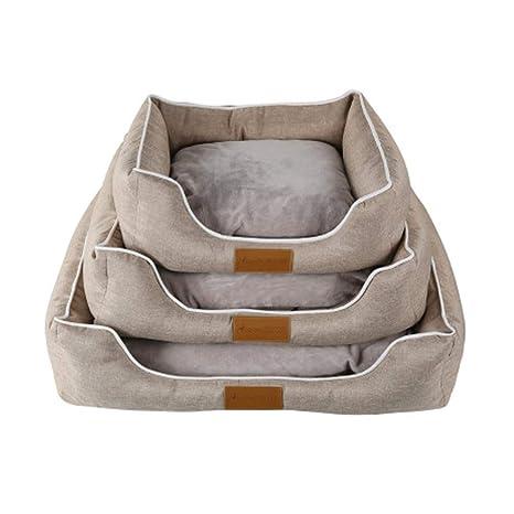 XGPT Cama Lavable para Perros con Cojines Desenfundables, Bordes Elevados para Perros Pequeños Y Medianos