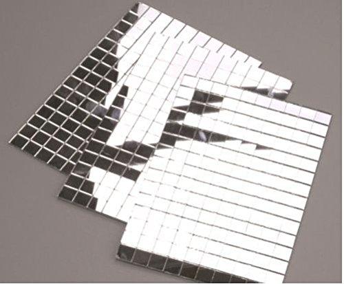 150 silver mirror mosaic tiles