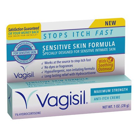 Vagisil Sensitive Skin Formula Maximum Strength Anti-Itch Creme with Oatmeal - 2PC (Vagisil Anti Itch Cream For Yeast Infection)