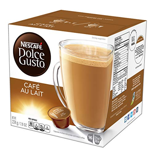 NESCAFÉ Dolce Gusto Coffee Capsules  Café Au Lait, 7.9 Ounce, Pack of 3 (Best Instant Coffee Consumer Reports)