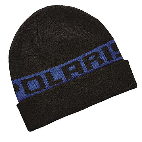 (Polaris New Unisex Classic Cuff Beanie Winter Hat Universal Black/Blue, 2867750)