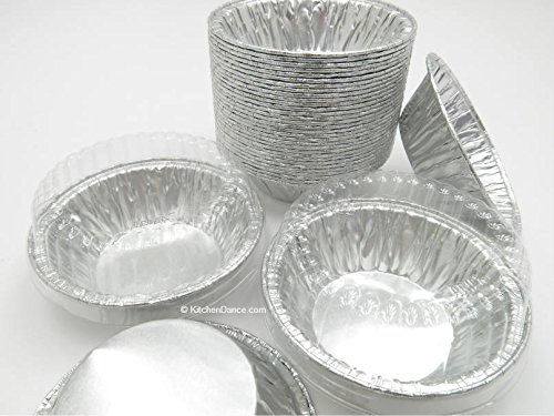 3'' Deep Disposable Aluminum Tart Pans with Clear Dome Lid D & W #A90P (Quantity Pack Options) (1000)