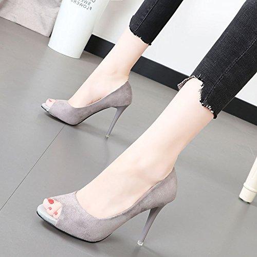 Xue Qiqi Elegante satin High Heels mit dünnen blass Mund einzelne Schuhe Frauen Schuhe