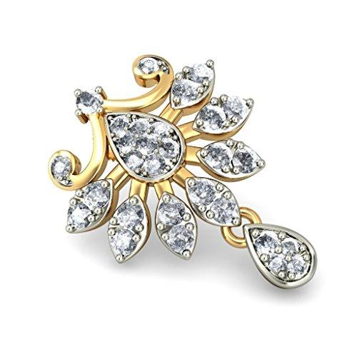 Or jaune 18K 1.73CT TW White-diamond (IJ | SI) Pendants d'oreilles