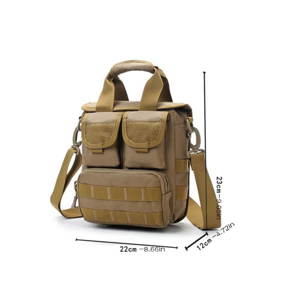 RXF Camouflage Mens Messenger Bag Canvas Handbag Travel Color : 4#, Size : S
