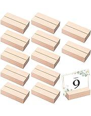 حامل بطاقات خشبية من Thyle 12 قطعة من حامل بطاقات خشبية وحامل رقم الطاولة وحامل بطاقات الاسم لتزيين الأحداث وحفلات الزفاف