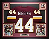 John Riggins Autographed Burgundy Redskins Jersey - Beautifully Matted and Framed - Hand Signed By John Riggins and Certified Authentic by JSA COA - Includes Certificate of Authenticity