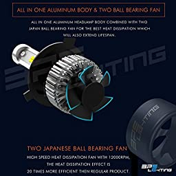 BPS Lighting B2 LED Headlight Bulbs Conversion Kit - H11 80W 12000 Lumen 6000K 6500K - Cool White - Super Bright - Car and Truck High or Low Beam - All-in One - Plug and Play