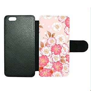 Case Fun Case Fun Japanese Flowers Faux Leather Wallet Case Cover for Apple iPhone 6 4.7 inch