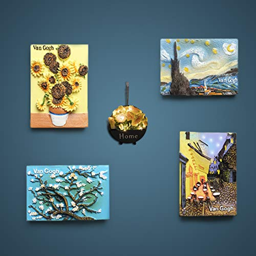 Fun Refrigerator Magnets Fridge Magnets Kitchen Decor Landscape Painting,Perfect for Refrigerators, Whiteboards, Maps and Other Magnetic Items (4PCS Painting)