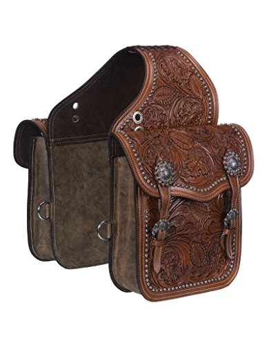 Leather Horse Saddlebags (Tough 1 Saddle Bag Adjustable Buckle Leather Medium Oil 61-9915)