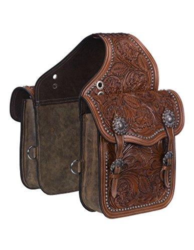 - Tough 1 Saddle Bag Adjustable Buckle Leather Medium Oil 61-9915