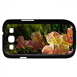 Abstract Spring (Flowers Series) Watercolor style - Case Cover For Samsung Galaxy S3 i9300 (Black)
