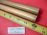 2 Pieces 3/4'' C360 BRASS SOLID ROUND ROD 12'' long Lathe Bar Stock .750'' OD H02