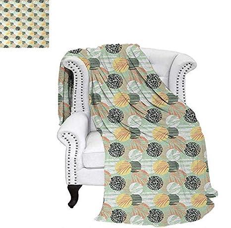 Custom Design Cozy Flannel Blanket Cute Baby Bunnies Flowers Hearts Friendly Kids Cartoon Characters Lightweight Blanket 60'x36' Marigold Pale Blue Coral