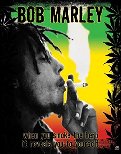 (16x20) Bob Marley Smoke the Herb Quote Music Poster Print ()