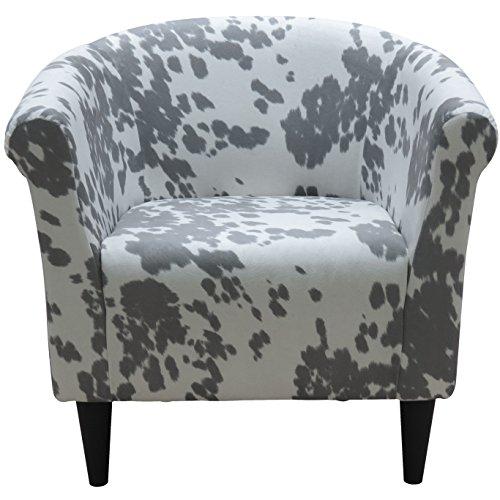 - Parker Lane uch-MRL-udc Savannah Club Chair, Silver Cowhide