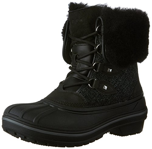 crocs Women's AllCast II Luxe Snow Boot, Black Shimmer, 6 M US ()