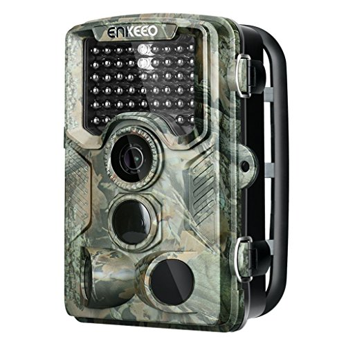 ENKEEO PH760 Trail Game Camera 16MP 1080P HD Hunting Camera 47pcs 850nm IR Night Vision IP56 Water Resistant with 0.2s Trigger Time 2.4'' LCD Screen by ENKEEO
