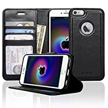 Navor Ultra Slim and Light Premium Wallet Case with Magnetic Detachable Cover for iPhone 6 / 6S [4.7 Inch]- Black (IP61LBK)