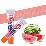 Romantic Bear Women easy peel off long lasting Smudgeproof Waterproof makeup tatoo lip gloss lipstick - 15 gms, 1 unit (Watermelon)