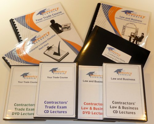 KIT C38 - REFRIGERATION for California w/LAW & BUSINESS & Online Practice Exams, Instructors on both DVDs and CDs by Industry Schools