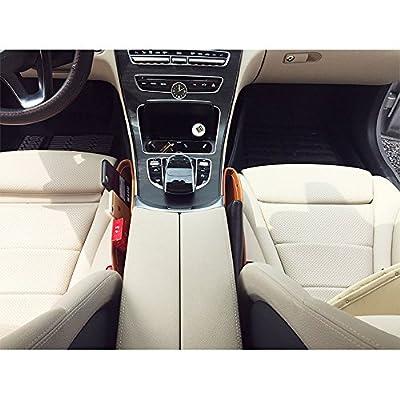 Anynow Car Seat Gap Filler Console Side Pocket Organizer Seat Catcher Premium PU Leather 2 Pack (Brown01): Automotive