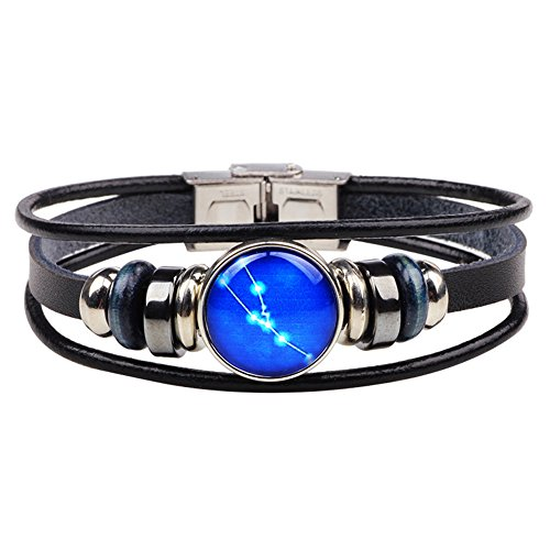 Taurus Zodiac Sign Constellation Bracelet Multilayer Charm Astrology Horoscop Bangle Wristband (Sign Zodiac Bracelet)