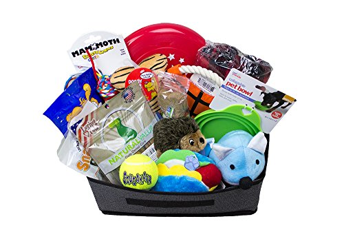 Dog Gift Basket, Get Well, Dog Lovers, Birthday, Made In The USA Dog Treats and Snacks, Small and Medium Dogs. Product will be closely matched or substituted