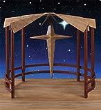 40'' Metal Christmas Display Nativity Creche with Star