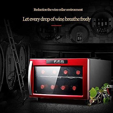 YFGQBCP Mini refrigerador de Vino, encimera termoeléctrica Bodega Nevera, Touch Control de Temperatura/Funcionamiento silencioso Nevera/Doble Vidrio Aislante