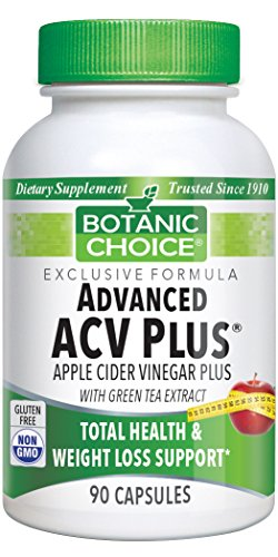 Cider Apple Tea Green Vinegar (Botanic Choice Advanced Apple Cider Vinegar Plus with Green Tea, 90 Capsules)