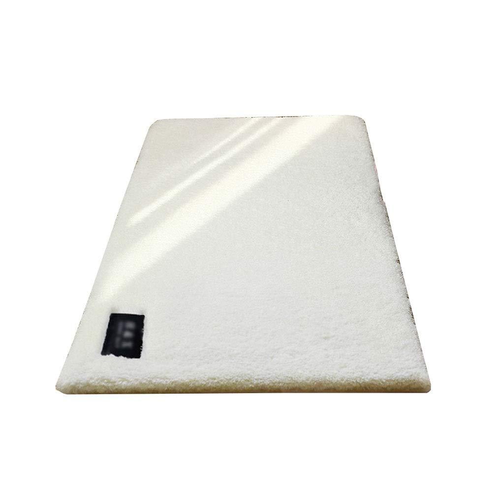 カーペット 洗い可能 折り 畳み可能 ホット カーペット カバー対応 ラグマット 防ダニ 滑り止め付き 夏 冷房対策 ふわふわ 床暖房対応 センターラグ 長方形 ベージュ 様々なサイズ (Size : 100*160cm) B07RCDV37S