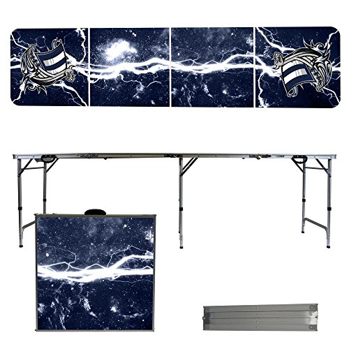 NCAA Western Washington University Vikings Lightning Version Folding Tailgate Table, 8' by Victory Tailgate