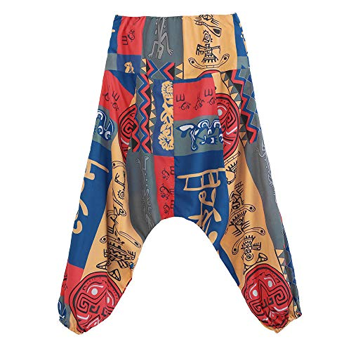 Floreale Forcella Cadere I Aladdin Yoga Harem Pants Giallo Sciolto Far Joggers Pantaloni unisex xX1wSqYZ