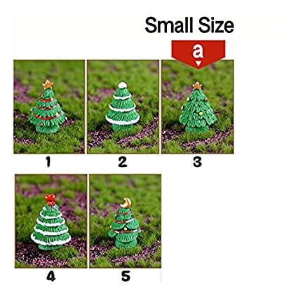 store decorative 5pc christmas tree miniature figurine mini christmas decoration for home kawaii diy - Christmas Decoration Store