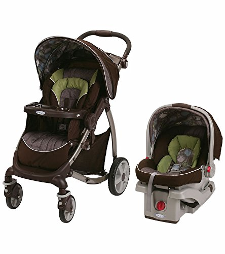 Graco Stylus Click Connect Travel System Stroller with car seat and base - Roundabout by Graco